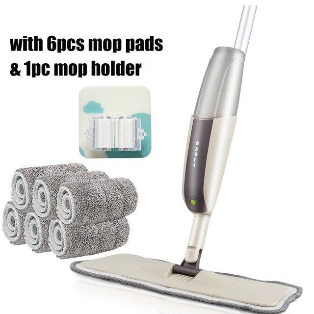 6 mop rags 1 hook