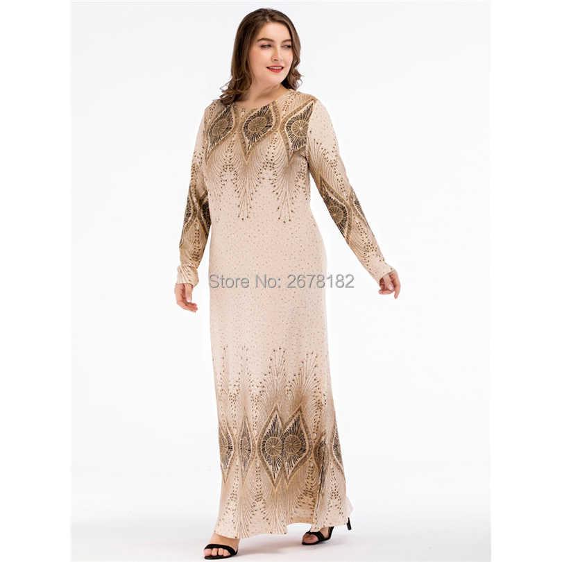 a5e3ec920b Beige Sequined Islamic Clothing Pakistani Sharara Dress in Big Size  4XL,Plus Size Muslim Dresses Arabic Dress