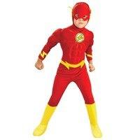 3 stks De flash Spier Cosplay kids kostuums DC comic Superhero fancy dress fantasia halloween disfraces voor kind jongen kleding