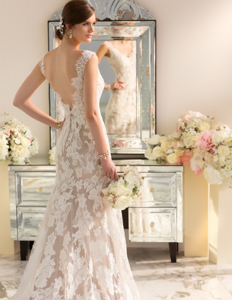 Modern Vintage Wedding Dress 2016 Sexy Lace Backless Wedding Dresses ...