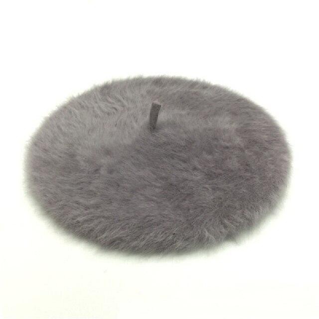 Artist Winter Beret Women's Rabbit Beret Hat Stylish Painter Newsboy Hats Femal