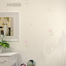 Hot Sale Papel Pintado Paysota European Style 3d Vertical Stripes Flowers Bedroom Tv Sofa Background Non-woven Wall Paper