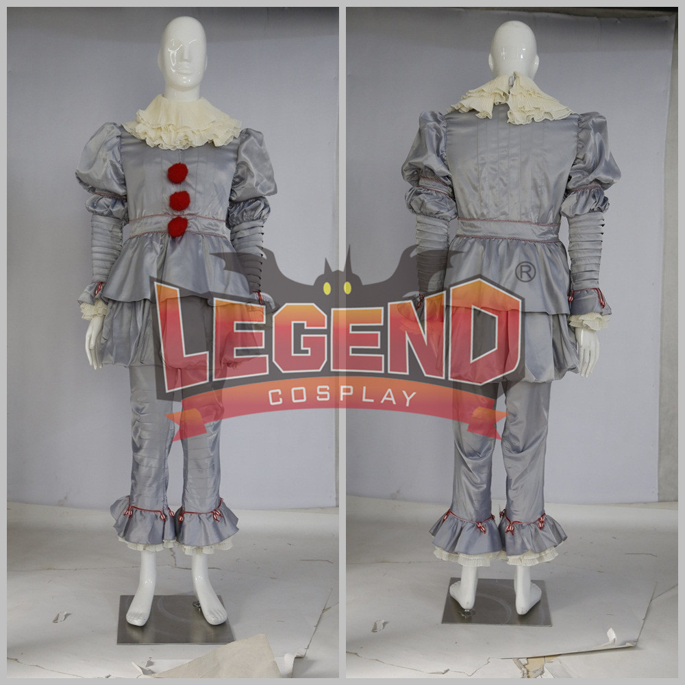 Stephen King's It Pennywise Cosplay Costume Scary Joker Suit custom made size