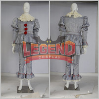 Stephen King's It Pennywise Косплэй костюм страшно джокер костюм размеры под заказ