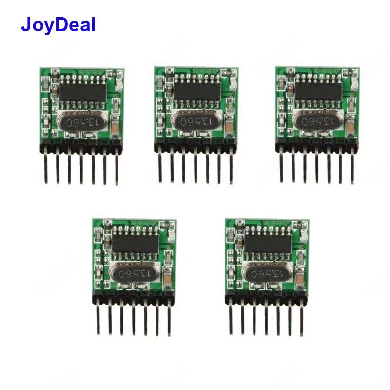 Module de commutateur émetteur sans fil 433 Mhz RF, encodage 1527 Code DC 3V-24V pour télécommande, Kit de bricolage 5 pièces