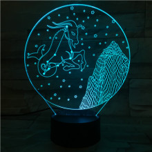 Western zodiac signs Table Lamp desk Touch Sensor 7 Color Changing Childrens Kids Baby Nightlight Capricornus Night Light LED