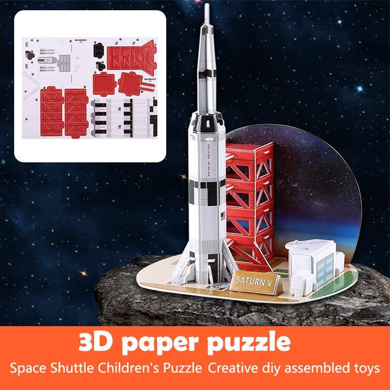 Красивый Космический Шаттл головоломка многоцветный Декор 3D модель самолета для обучающая игрушка, Прямая поставка