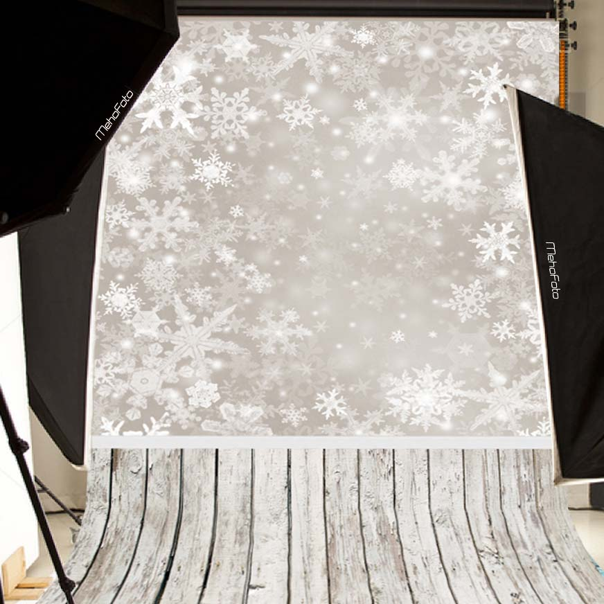 Comophoto Snowflake Christmas Backdrop  Customized Computer Printed Vinyl Photography background for photo studio  L-885 snowman village snow moon snowflake photo backdrop high grade vinyl cloth computer printed christmas photography backgrounds