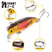 NOEBY NBL9158 Trout Hard Bait Fishing Lure Artificial Insect Bait 37mm/2g Sinking 0.2-0.6m Leurre Dur Peche Isca Pesca Souple