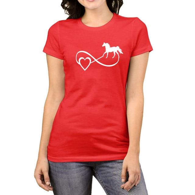 2017 Women's T Shirts Tumblr Funny Harajuku Horse Mother Punk ...
