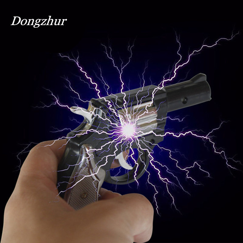 Dongzhur Kids Toys Electric Shocking Gag Gun Pistol Dual Use Electric Man Pistol Tricky Creative Toys For Adult