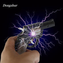 Dongzhur Kids Toys Electric Shocking Gag Gun Pistol Dual Use Electric Man Pistol Tricky Creative Toys For Adult(China)