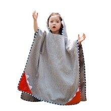 CYSINCOS/Дизайнерские банные халаты с капюшоном и милыми животными для маленьких мальчиков и девочек, детские спа-полотенца с рисунком, детский купальный халат, пляжное полотенце для младенцев
