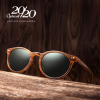 20 20 Brand Classic Men Polarized Sunglasses Women Retro Acetate Eyewear Rivet Shades Unisex Sun