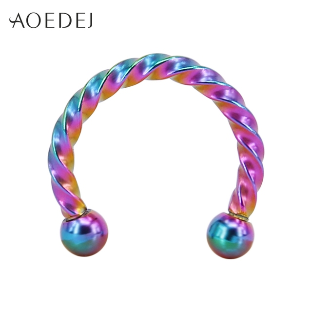 AOEDEJ 4 Colors Septum...
