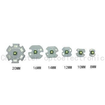 цена на 5pcs Cree XP-E R3 1-3W LED Emitter Diode Warm White 3000K Naturally white4000k  Cool White 6500K with20/16/14/12/10/8mm heatsink