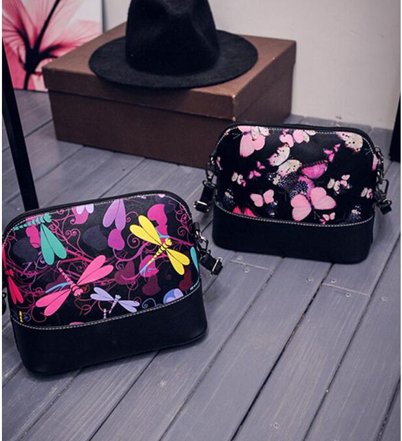 New 2017 women shoulder bag leather handbag women messenger bags famous brand shell package Women pouch