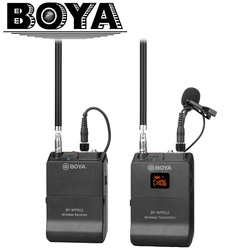 BOYA BY-WFM12 VHF Wireless Microphone System for IOS Android Smartphones, Video DSLRs, Camcorders, Audio recorders, Broadcasters