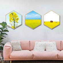 лучшая цена Simple wall painting Living room decorative painting Sofa background wall painting Bedroom restaurant Spring flower field