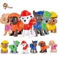 6 Unids/set Canino Ruso Juguetes Anime Figuras de Acción Muñeca Del Perro de la Patrulla Patrulla Patrulla Canina Cachorro Juguete Juguetes Regalos para Niños