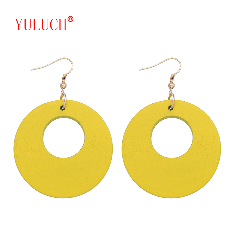 YULUCH Designer new pattern multi-color round hollow pendant for fashion ethnic women's earrings jewelry accessories gifts