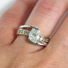 Two-color Mosaic 14K Gold Diamond Ring Engagement Peridot Anillos of Gemstone Jewelry gold jewelry topaz Bizuteria