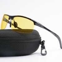 Модные мужские очки для водителей, очки ночного видения, UV400, поляризатор, солнцезащитные очки, поляризованные солнцезащитные очки для вожд...