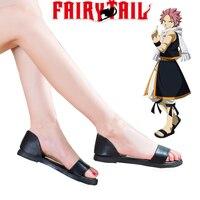 Ücretsiz Kargo Fairy Tail Ejderha Avcıları Natsu Dragneel Kadın Siyah Sandalet Anime Cosplay Ayakkabı
