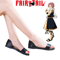 Envío Gratis Tail Fairy Dragon Slayers Natsu Dragneel Femenino Sandalias Negras Zapatos de Anime Cosplay