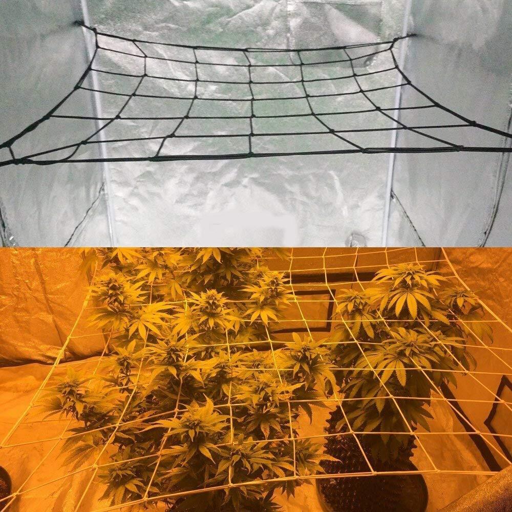 80*80cm Elastic Rubber Garden Trellis Net Garden Growing Tent Support Netting For Flower Vegetable Climbing Vine Plants