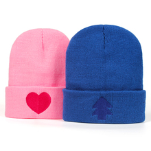 2018 New Gravity Falls U.S Cartoon Mabel Dipper Pines Cosplay Cool Knitted winter hat Hip-hop Skullies Hat футболка print bar dipper pines