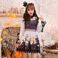 Принцесса сладкий лолита платье Хэллоуин Конфеты дождь Лук украшения Линии Стенд воротник косплей печать Японский дизайн C16CD6206
