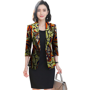 African festival fashion print women slim blazers elegant design style tops dashiki casual suit africa clothing 3