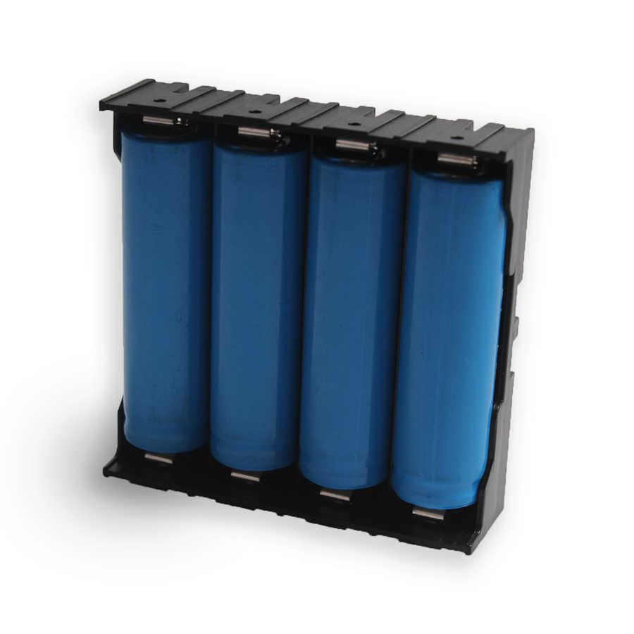 1 ADET Yüksek Kalite 4 Yuvaları 18650 Pil Plastik Pil Tutucu/saklama kutusu Için 4*3.7 V 18650 Lityum pil Ile 8Pin