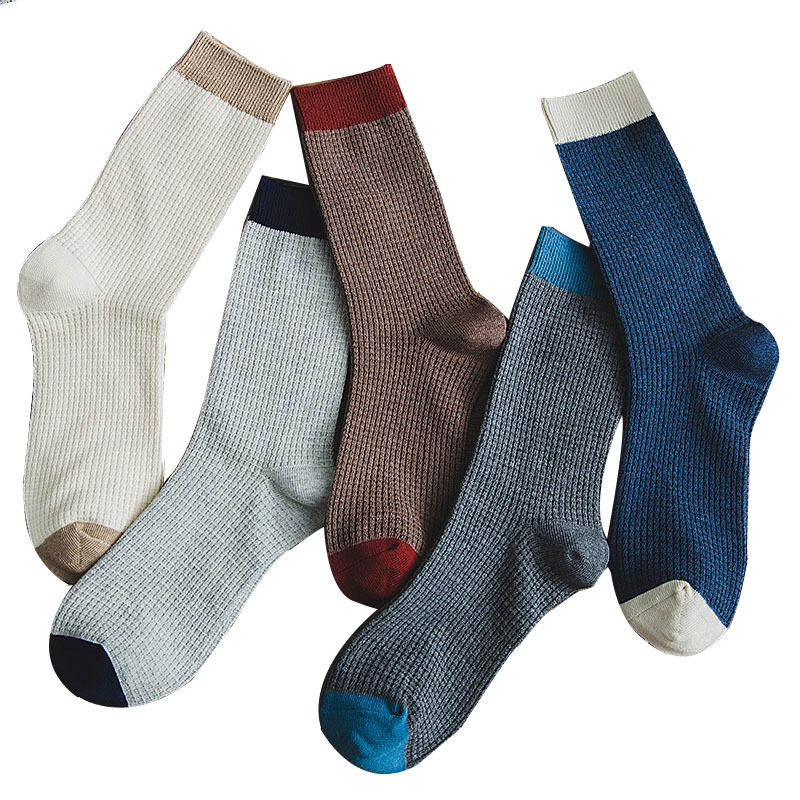 High Quality Men Long Socks Compression Man Dress Socks Male New Brand Business Leisure Happy Socks Cotton Plus Size 40-46