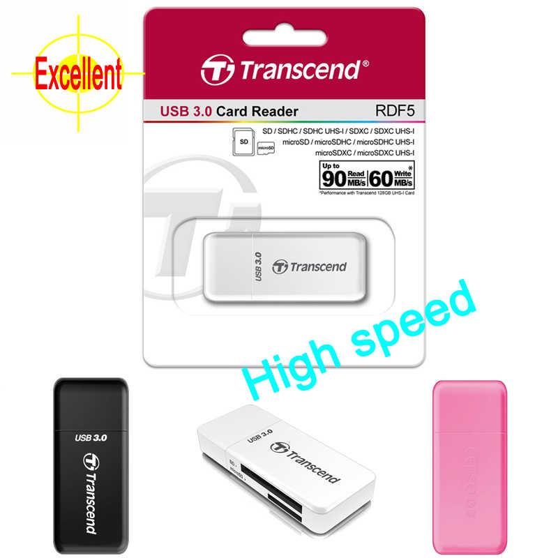 تجاوز 2 في 1 عالية السرعة USB 3.0 محوّل قارئ البطاقات ل SDHC/SDXC/ميكروسدهك/microSDXC/UHS-I بطاقة محول يصل إلى 128GB