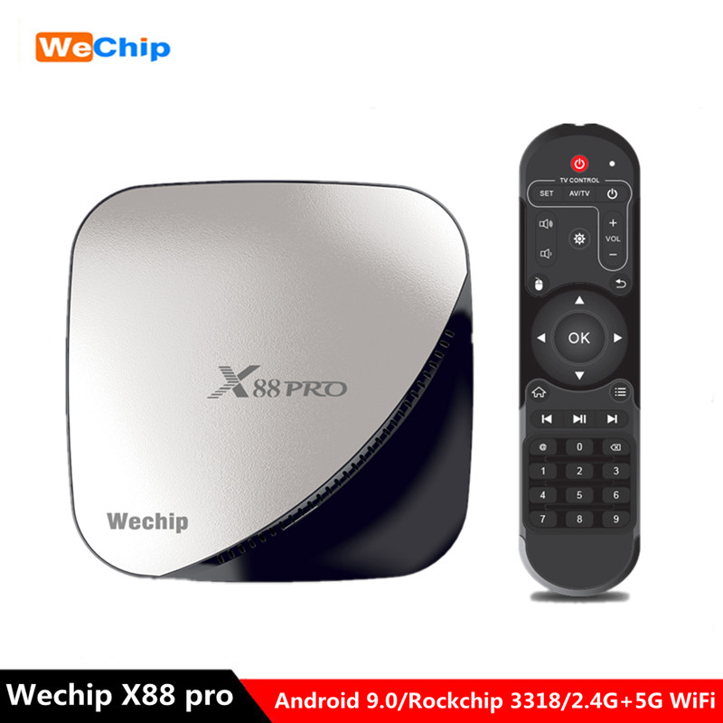 Wechip Top-Box Octa-Core Android 9.0 Media-Player Wifi RK3318 X88 Pro PK 4K X96 4G 32g-Set