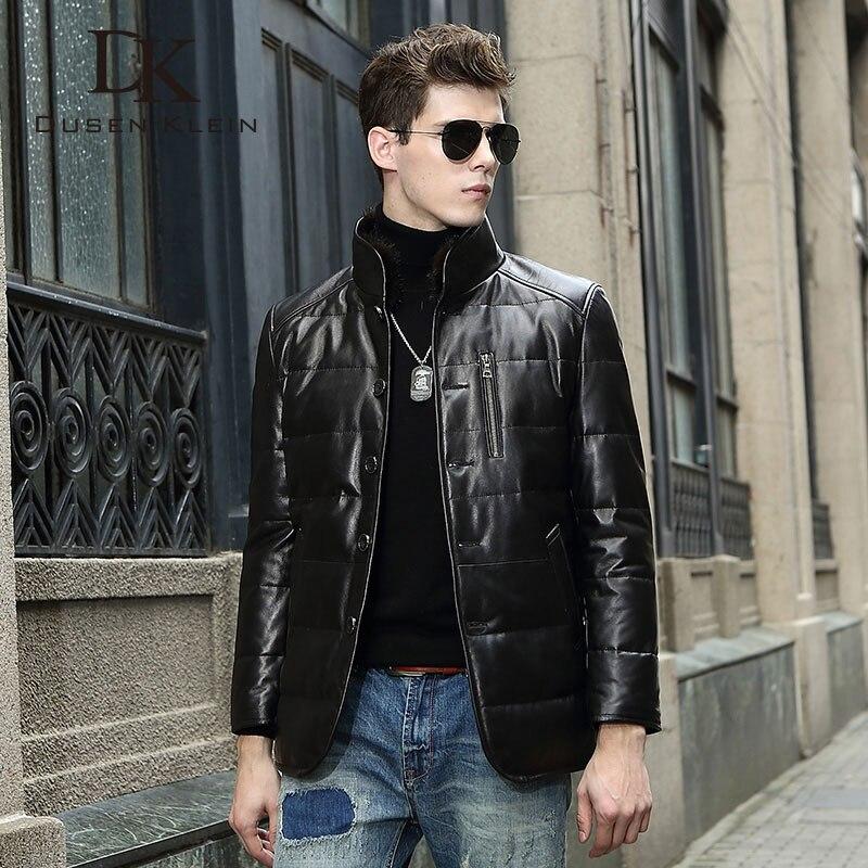 Dusen Klein din piele Down Coat bărbați piele de lux din piele - Imbracaminte barbati - Fotografie 2