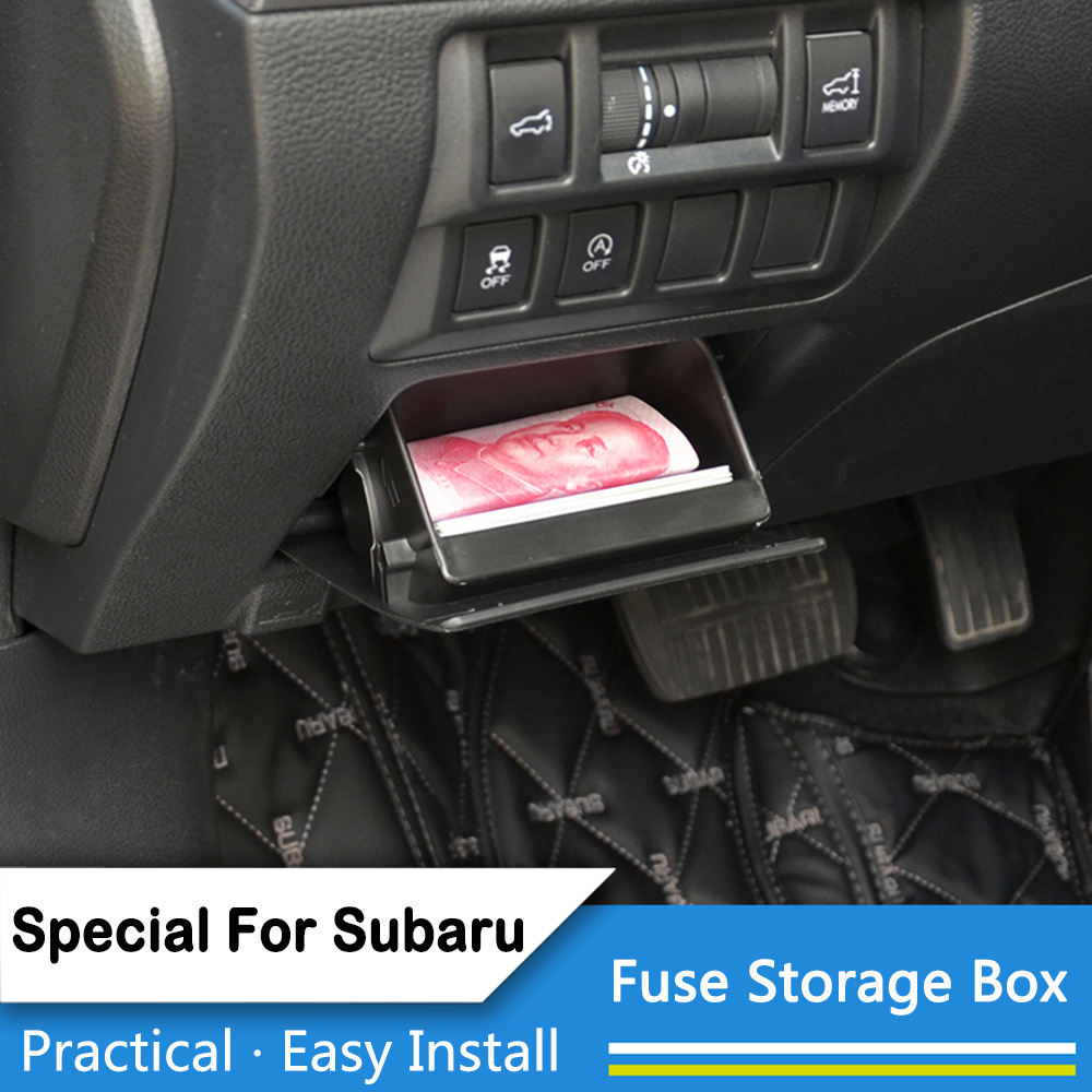 Thie2e Car Fuse Box Coin Holder Inner Container Storage Tray For Subaru Xv Crosstrek Forester Wrx