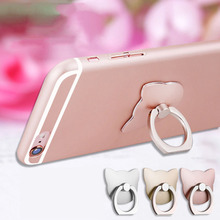 100pc/lot 360 Finger Ring Mobile Phone Smartphone Stand Holder For Samsung Smart Phone For iPhone 7 Plus GPS MP3 Car Mount Stand