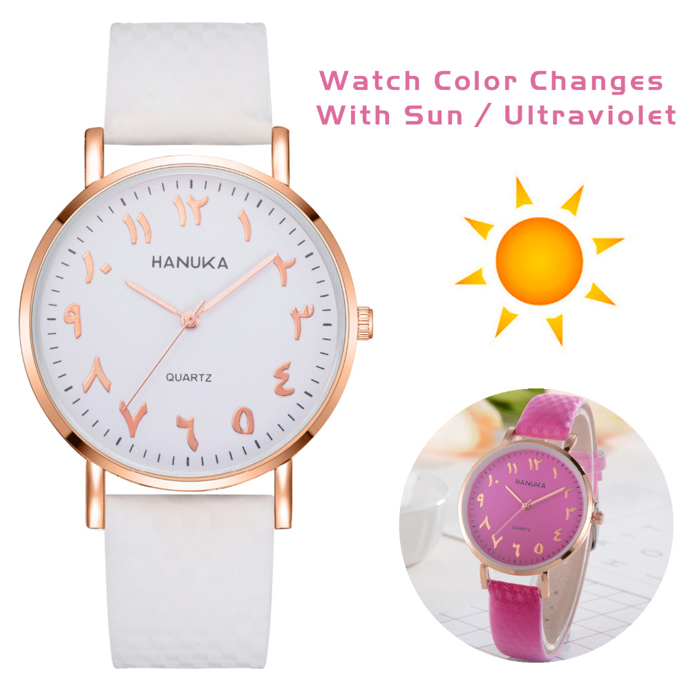 Wrist Watches For Women Girls Student Clock Fashion Discolor Leather Band Bracelet Watch Luxury Simple Sport Female Relogio sport student children watch kids watches boys girls clock child led digital wristwatch electronic wrist watch for boy girl gift