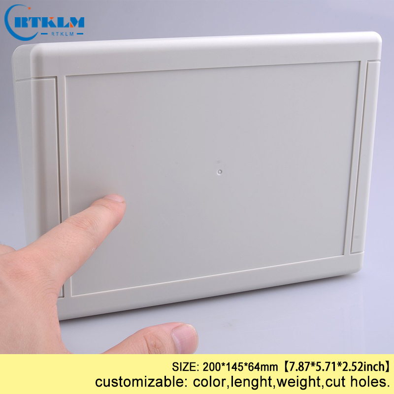 Plastic enclosure junction box ABS plastic electronic box wall mounting box PCB diy design circuit project case 200*145*64mm|Wire Junction Boxes| |  - title=