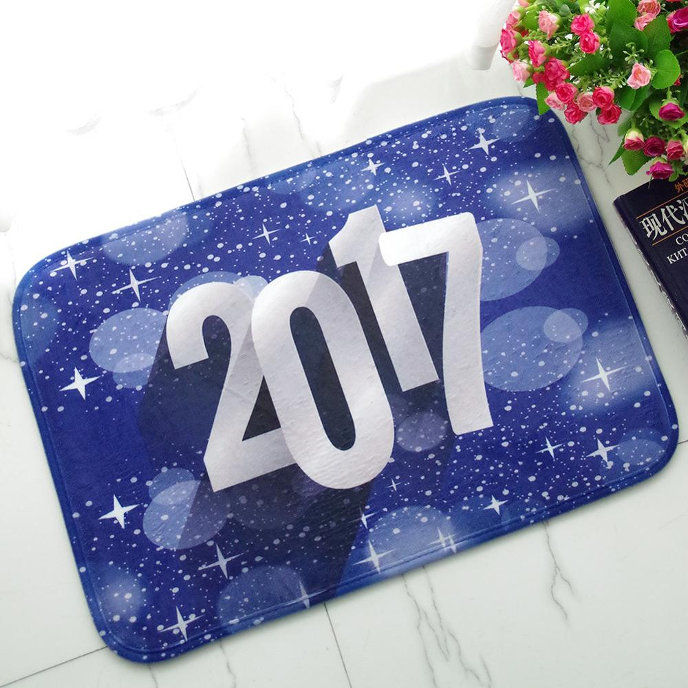 Floor mats for house - Fashion Welcome Floor Mats 2017 Happy New Year Print Bathroom Kitchen Carpet House Doormats