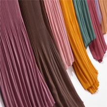 Pleated Women Scarf Wrinkle bubble chiffon
