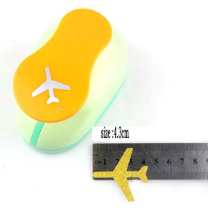 Image 1 - 3.3cm 4.3cm aircraft craft punch perfurador de papel Kids Embossing device scrapbooking puncher paper punches EVA Punch airplane