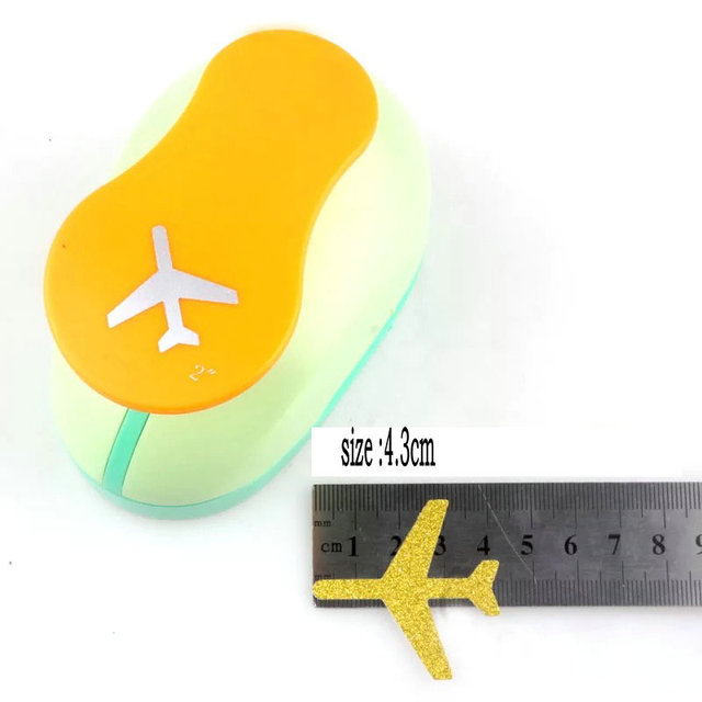 3.3cm 4.3cm aircraft craft punch perfurador de papel Kids Embossing device scrapbooking puncher paper punches EVA Punch airplane