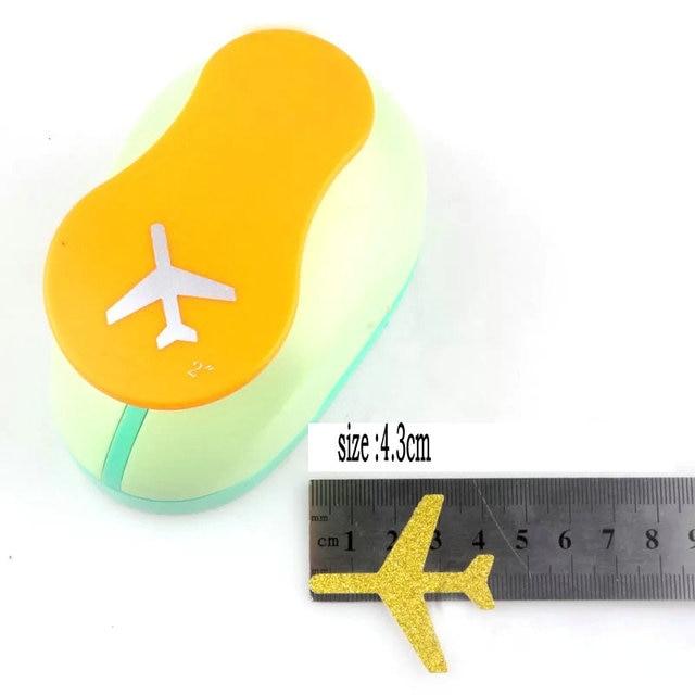 Perfurador de papel para avião, perfurador de papel para aviões de 3.3cm e 4.3cm, dispositivo de gravação para álbum de recortes, perfurador de eva