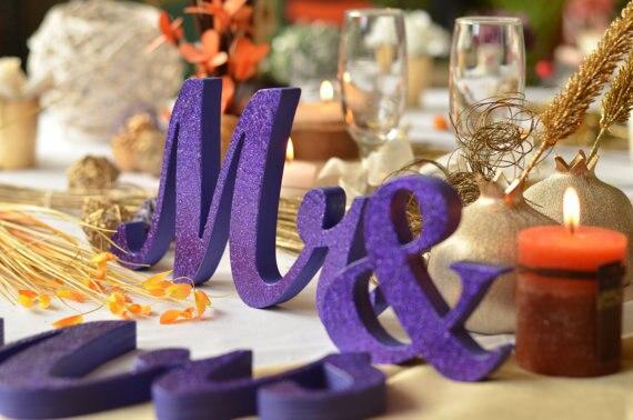 Топ Mr. & Mrs. glit деревянные буквы свадебные украшения, ПВХ мистер и миссис свадьба знак, свадьбы, Mr & Mrs буквы