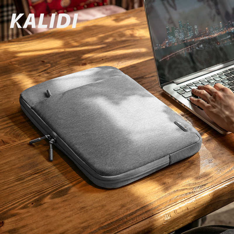 Kalidi Laptop Bag Sleeve 11.6 12 13.3 14 15.6 Inch Notebook Tas Voor Macbook Air Pro 13 15 Dell asus Hp Acer Laptop Case