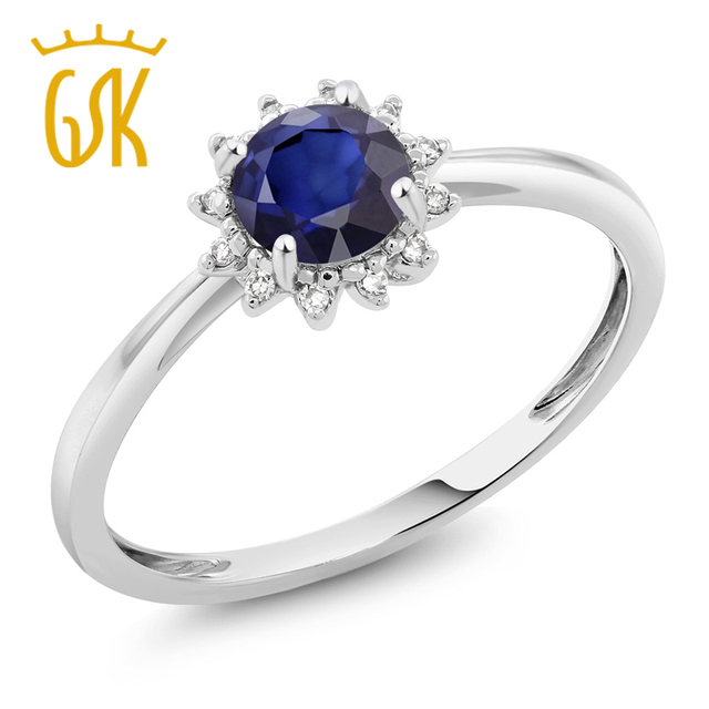 Fine Jewelry Womens Blue Sapphire 10K Gold Solitaire Ring dutJ6sV8Q